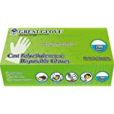 GREAT GLOVE CPE200-M-BX Cast Polyethylene (CPE) Food Service Gloves, Latex-Free, FDA 21CFR 170-199 Compliant, Medium, Clear (Pack of 200)