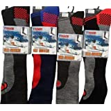 4 Pairs Men's Ski Socks Long Hose Socks 6-11