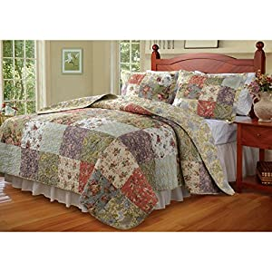 Blooming Prairie Quilt Set Size: Twin