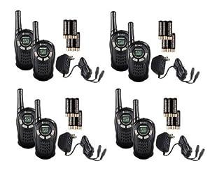 (4) PAIR COBRA CXT135 MicroTalk 16 Mile 22 Channel Walkie Talkie 2-Way Radios by Cobra