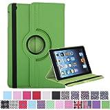 HDE Rotating Leather Case Stand Cover for iPad Mini / Mini 2 / Mini 3 / Retina (Green)