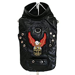 Born To Ride Motorcycle Harness Jacket - Black (Medium)