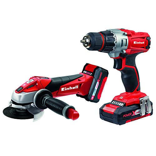 Einhell-Maschinen-Set-Werkzeug-TE-TK-18-Li-Power-X-Change-Lithium-Ionen-18-V-Akku-Bohrschrauber-Akku-Winkelschleifer-inkl-15-30-Ah-Akku-und-Ladegert