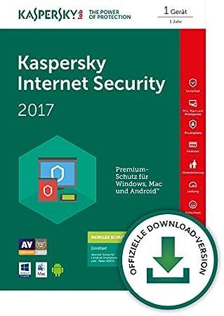 Kaspersky Internet Security 2017 1 Gerät + Kaspersky Internet Security for Android 1 User [Download]