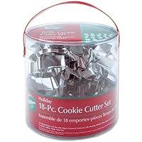 Wilton 2308-1132 Metal Cookie Cutter Set Of 18