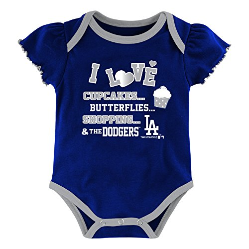 MLB Los Angeles Dodgers Girls Infant My Team 3 Piece