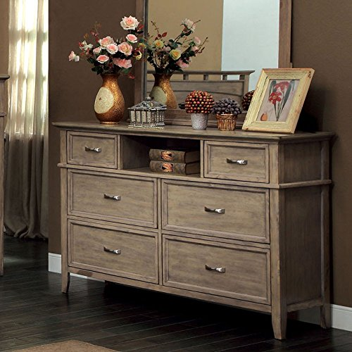 Loxley Transitional Style Bleach Oak Finish Bedroom Dresser Reviews