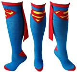 Apparel & Shoes Online Shop Ranking 29. Superman Knee High Cape Sock, Blue and Red - One Size