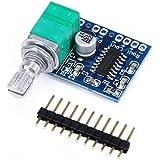 DROK® Ultra Small 5V Car Audio Amplifier Mini Power Amplifiers Digital Motorcycle Ampli Board Support USB Power 2 Channel Stereo Amp 3W+3W for Portable Speaker Headphones Headset