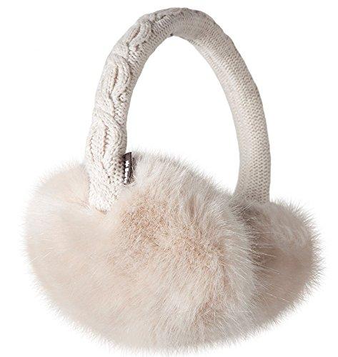 Barts - Fur Earmuffs, Paraorecchie Donna, Bianco (Weiß), Taglia unica (Taglia Produttore: One Size)