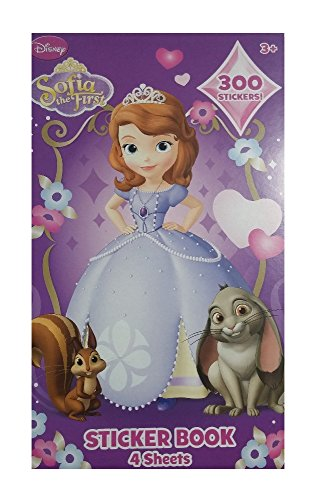 Sofia the First 4 Sheet Sticker Book 300 Stickers! - 1