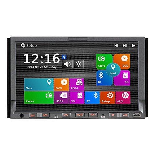 Pumpkin 7 Zoll 2 Din Autoradio Moniceiver mit Touchscreen Unterstützt GPS Navi iPod Bluetooth DVR