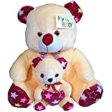 MYBUDDY SWEET SOFT MOTHER BABY TEDDY BEAR 52CM