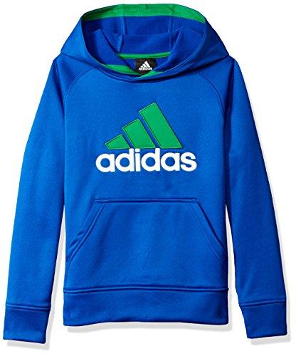 adidas Big Boys' Po Tech Fleece Hoodie, Collegiate Royal/Green, X-Large/18