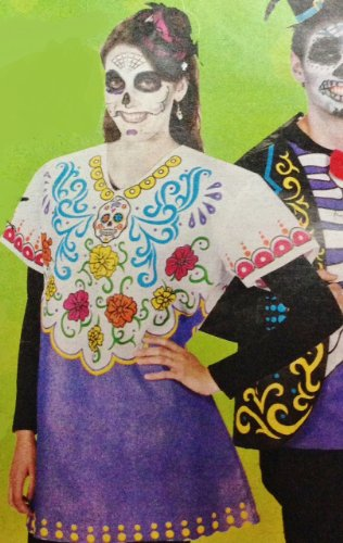 Day Of The Dead Women's Costume - Adult One Size