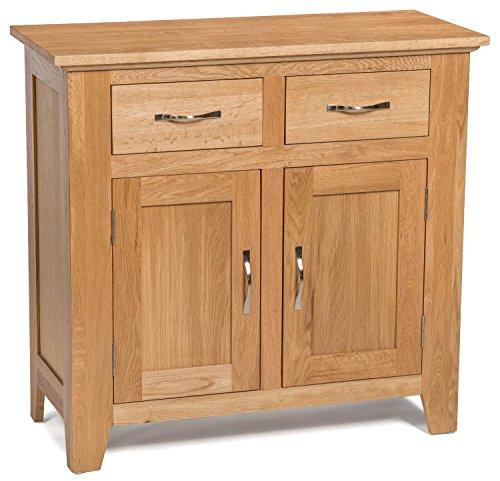 5055661800754 camberley oak 2 door 2 drawer small sideboard with light oak finish compact wooden camberley oak 2 door