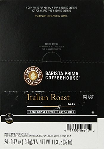Barista Prima Coffeehouse Coffee, Keurig K-Cups, Italian Roast, Dark Roast, 24- Count (Italian Roast K Cups Coffee compare prices)