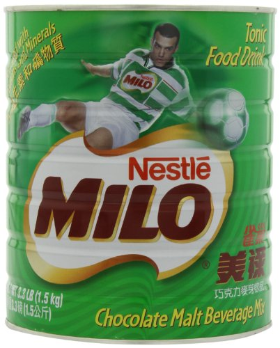 Nestle Milo Chocolate Beverage Mix Jumbo, 3.3-Pound Cans (Pack of 2) (Milo Chocolate Drink compare prices)