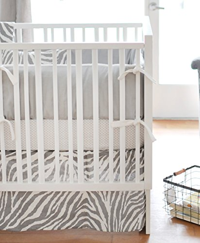 New Arrivals 3 Piece Crib Bed Set, Safari in Gray