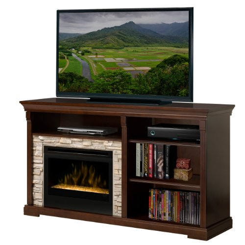 """Edgewood 65"""" Tv Stand With Electric Ember Bed Fireplace"""