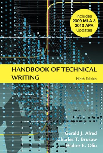 Handbook of Technical Writing with 2009 MLA and 2010 APA...