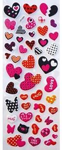 Jazzstick Puffy Dimensional Colorful Valentine Mini Heart Decorative Sticker (VST06A03)