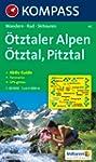 Carte touristique : �tztaler Alpen