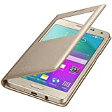 Samsung J2 (2016) EDITION Golden Leather Window Flip Cover