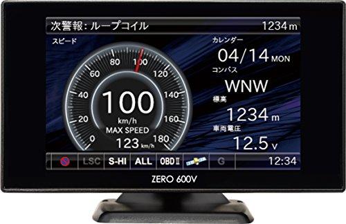 コムテック レーダー探知機 3.2インチ液晶・Gセンサー搭載 ZERO600V(リモコン付)