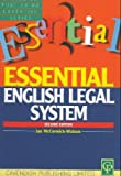 English Legal System (Essential) (1859413617) by Watson, Brian