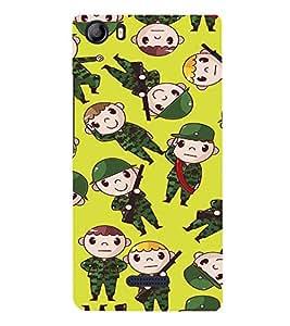 EPICCASE soldiers Mobile Back Case Cover For Micromax Canvas 5 E481 (Designer Case)