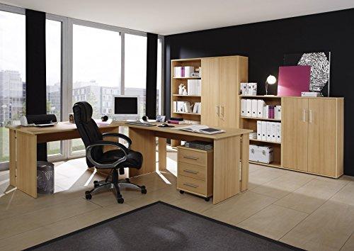 Komplettes-Arbeitszimmer-Brombel-in-Buche-8-teilig