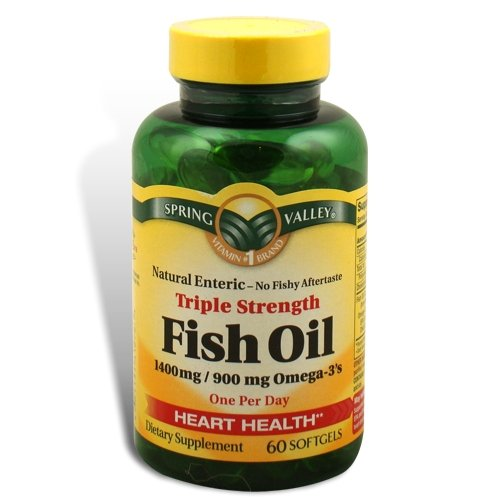 Spring valley fish oil 1400 mg triple strength natural for Fish oil 1400 mg