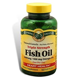 Spring valley fish oil 1400 mg triple for Organic fish oil
