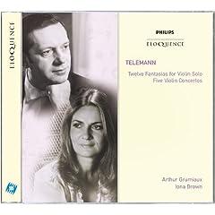 Telemann: Twelve Fantasias for Violin Solo; Five Violin Concertos