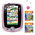 LeapFrog LeapPad2 Explorer Pink(32615)+ LeapFrog LeapPad Ultra eBook Learn to Read Collection: Fairy Tales + Adventure Stories + iEssentials Creature Buds (Fluff)