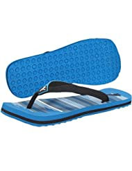 Puma Men's Beach Ind. Blue Aster, White And Black Rubber Flip Flops Thong Sandals - 4 UK
