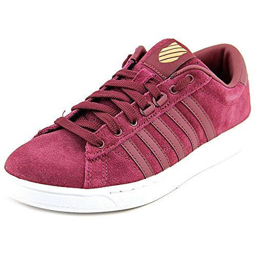 K-Swiss Women's Hoke Suede CMF Casual Shoe, Zinfandel/White, 7 M US
