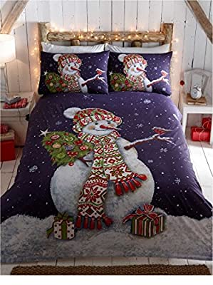 Happy Snowman Single Duvet Bedding Set
