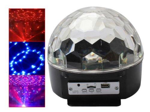 Gosear Disco Party Dj Stage Lighting Led Rgb Mp3 Ball Light W/ U Disk