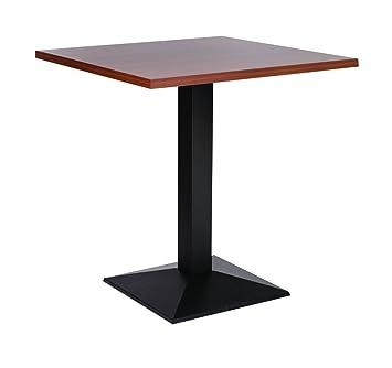 Quinn ghisa Medium base da tavolo con top in noce quadrato, 80cm