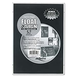 deflect-o Superior Image Float-A-Sign 4-in-1 Desktop/Wall Sign Holder, Plastic, 5 x 7 Inches (57180301)