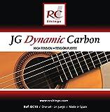 Royal Classics DC10 JG Dynamic Carbon Nylon Guitar Strings, High-Tension