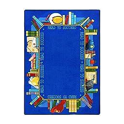 Joy Carpets Kid Essentials Language & Literacy Read to Succeed Rug, Multicolored, 3\'10\