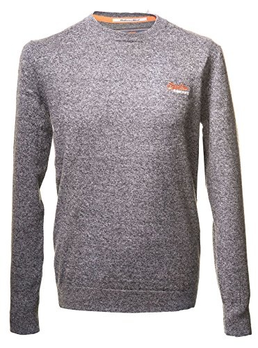 Superdry-Girocollo in Etichetta arancione, colore: grigio Grey Twist XXL