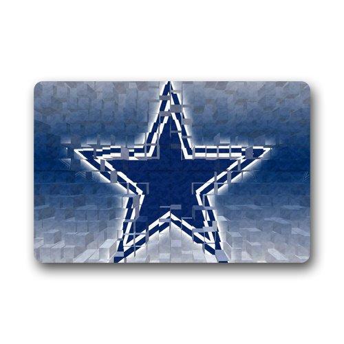 Unique Dallas-Cowboys Blue Star Design Doormat front-884264
