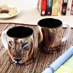 Hot Muggs Wild Focus Im The King Ceramic Mug, 350ml
