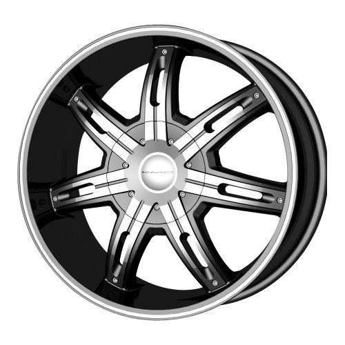 "Kmx Wheels Surge Km6655 Matte Black Finish Wheel With Machined Accents (22X9.5""/5X115Mm)"