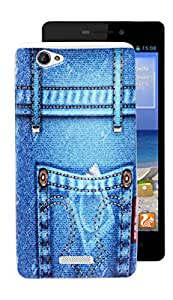 ECellStreet Silicon Soft Back Case Cover Back Cover For Gionee M 2 - Jeans