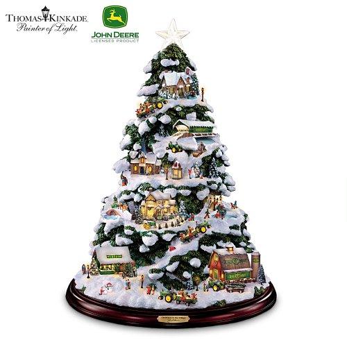 Thomas Kinkade Tabletop Christmas Tree: John Deere Winter Wonderland by The Bradford Exchange